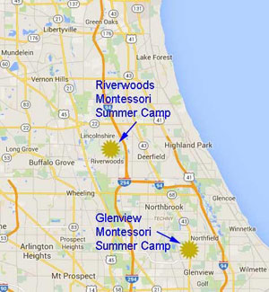 Summer Camp in Riverwoods and Glenview near Lake Forest, Vernon Hills, Buffalo Grove, Highland Park, Wilmette, Glenview, and Northfield